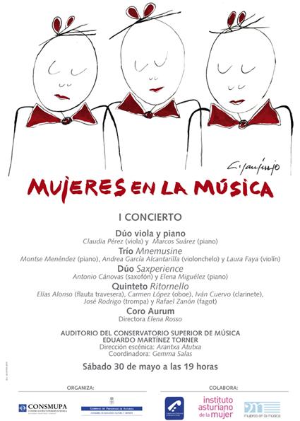 Mujeres en la musica cartel
