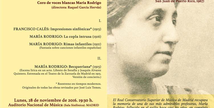 MARÍA RODRIGO. Del exilio al Auditorio Nacional