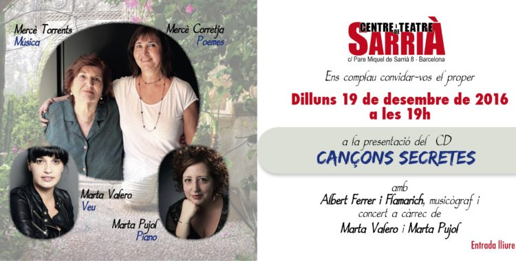 """Presentación del CD """"Cançons secretes"""""""