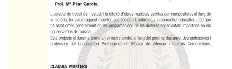 """Conferencia-Concierto de presentación: """"Fet per dones"""""""