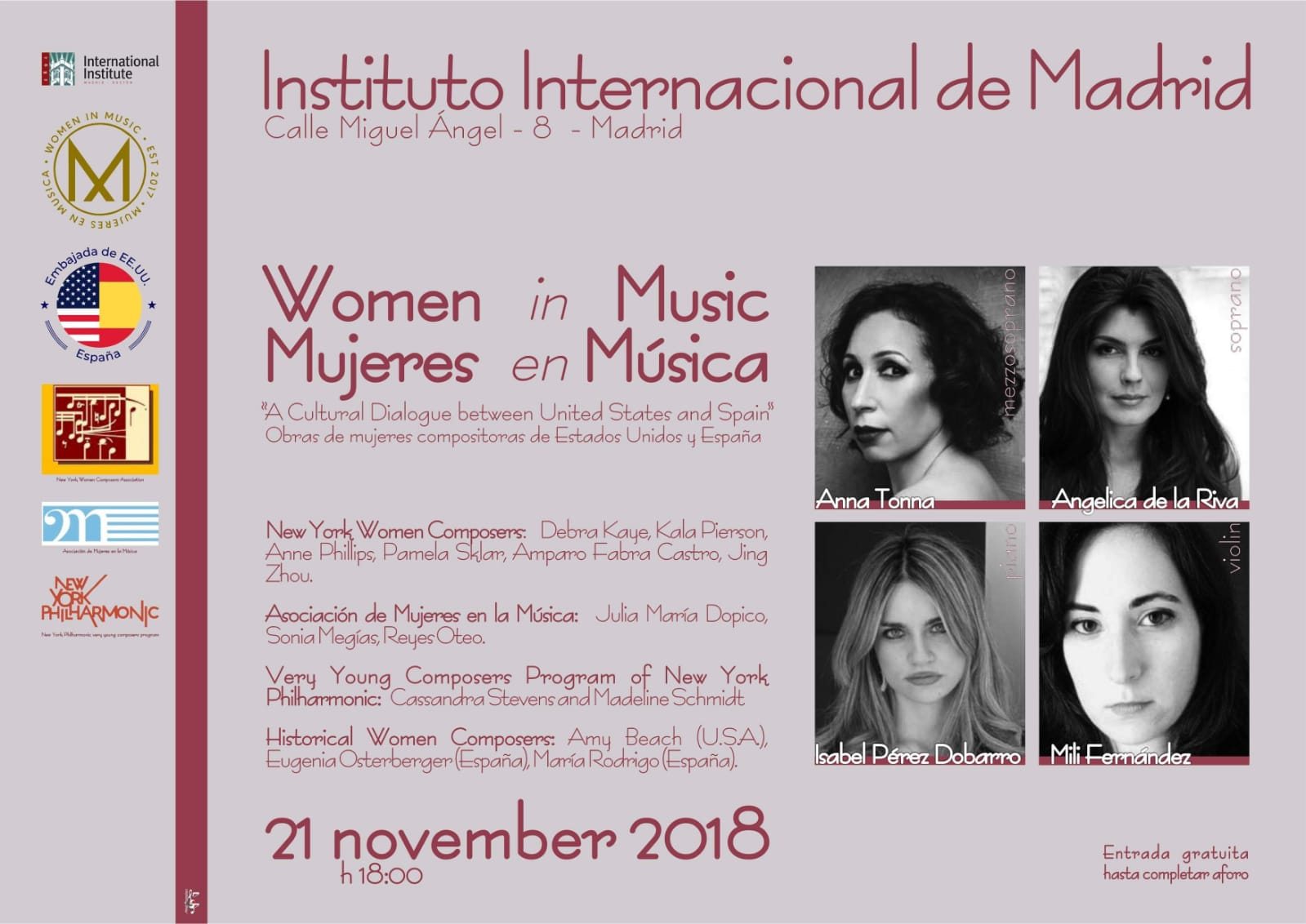 Women in Music / Mujeres en Música en Madrid @ Instituto Americano | Madrid | Comunidad de Madrid | España