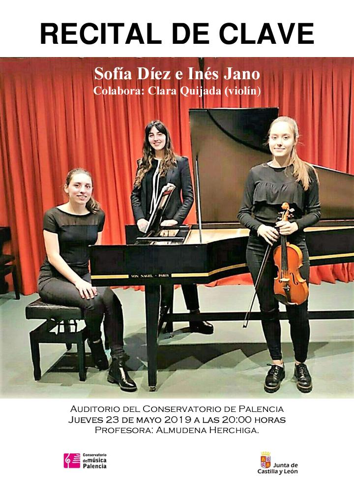Recital de clave - Alumnas de Almudena Herchiga @ Auditorio del Conservatorio Profesional de Música de Palencia