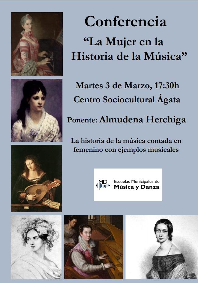 """""""La mujer en la Historia de la Música"""", por Almudena Herchiga @ Auditorio del Centro Sociocultural Ágata"""