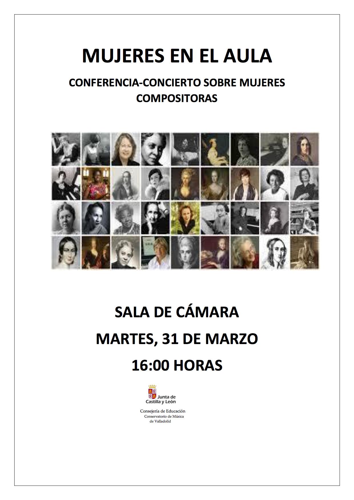 #VIMujeresEnLasAulas CPM de Valladolid @ Sala de cámara del CM de Valladolid