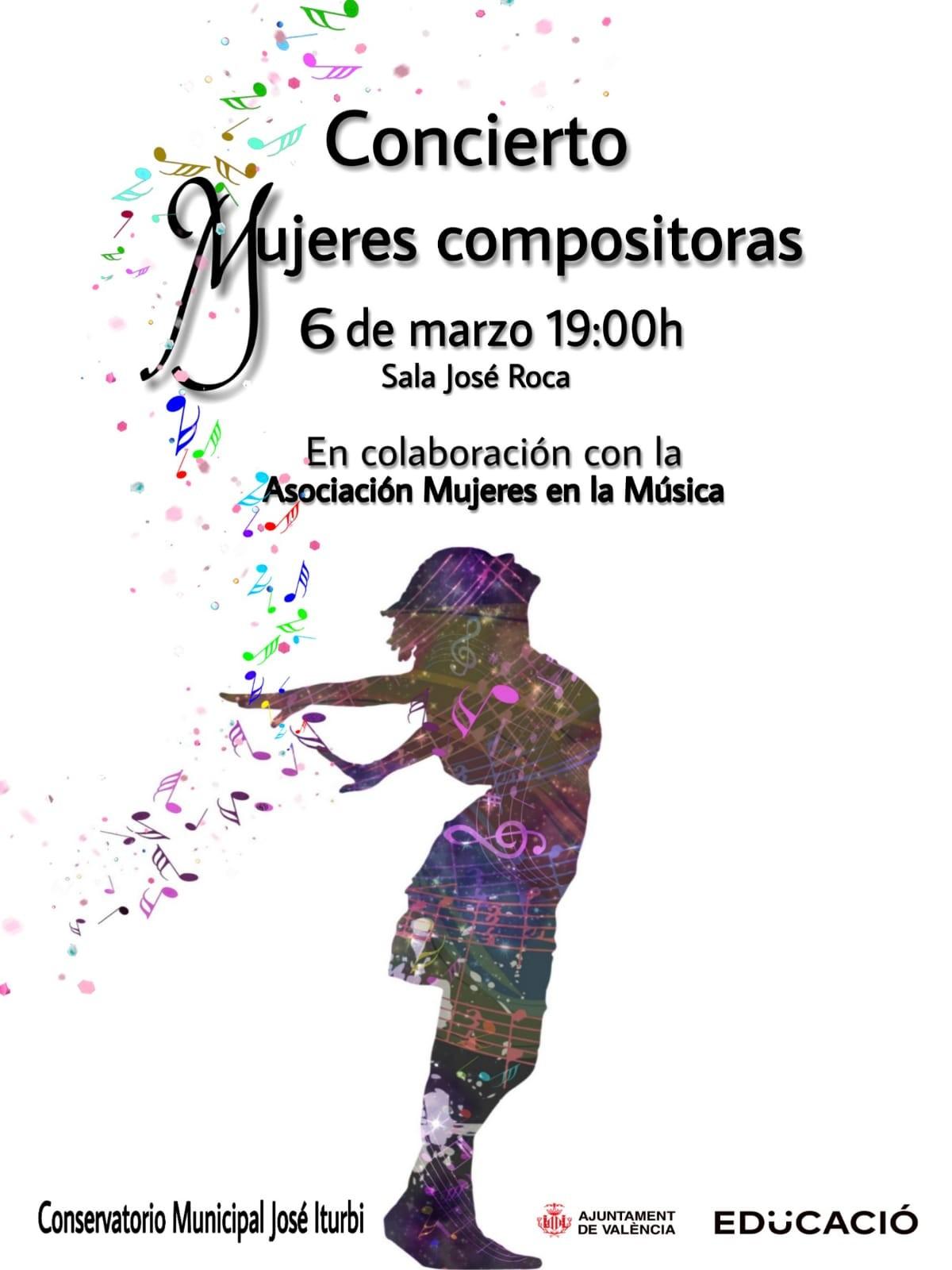 "#VIMujeresEnLasAulas CMM ""José Iturbi"" de Valencia @ Sala ""José Roca"" CMM José Iturbi"