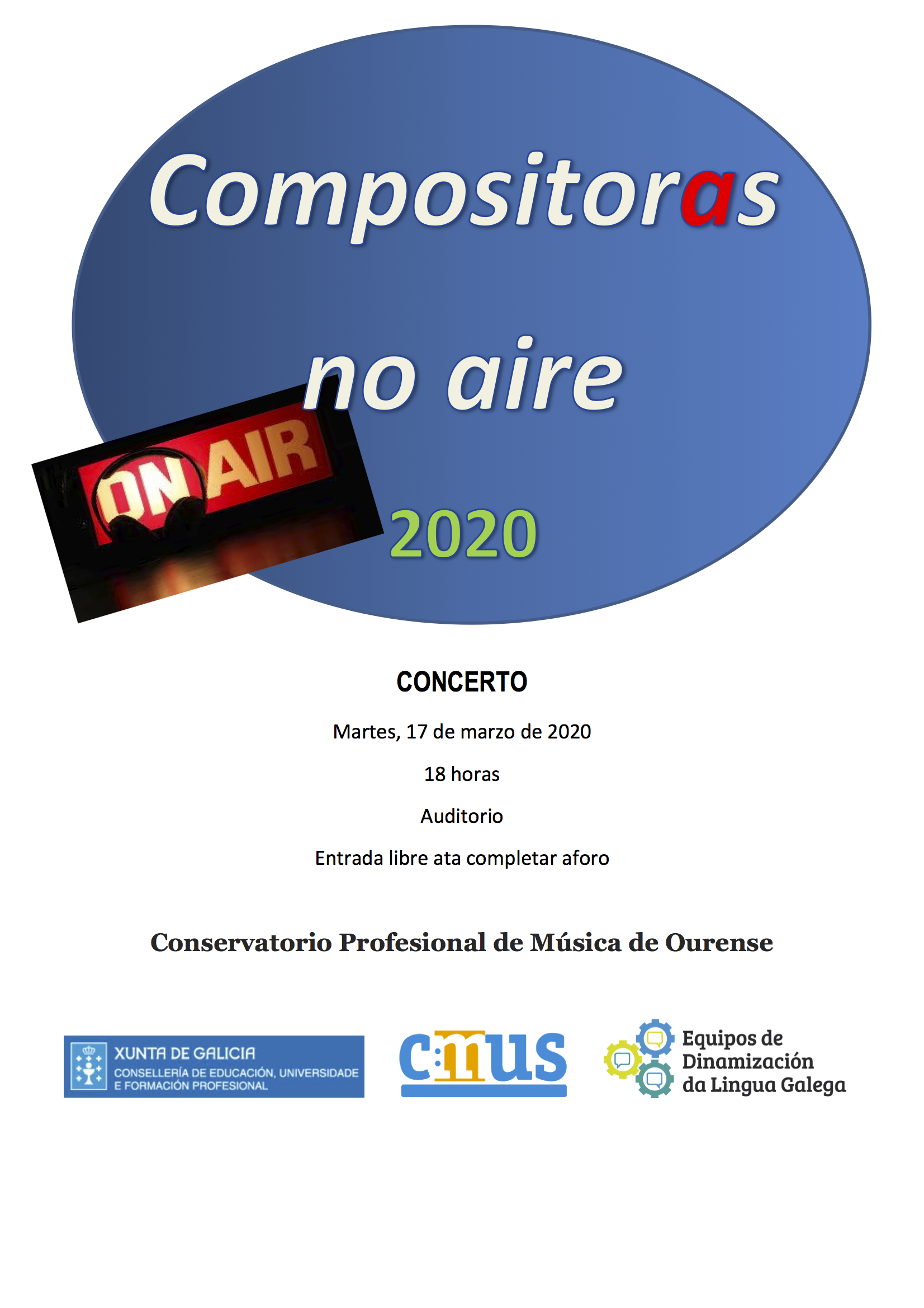 #VIMujeresEnLasAulas CPM de Ourense @ Auditorio del CPM de Ourense
