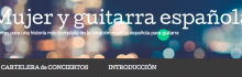 mujer y guitarra española